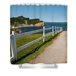 Shower Curtain featuring the photograph View In Perce Quebec by Elena Elisseeva