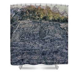View Of A Quarry Shower Curtain