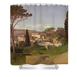 View Of A Villa Shower Curtain by Jean Achille Benouville
