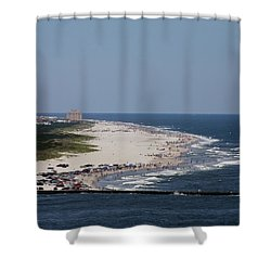 View Of Brigantine Shower Curtain
