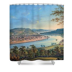 Shower Curtain featuring the painting View Of Cincinnati From Covington by John Caspar Wild
