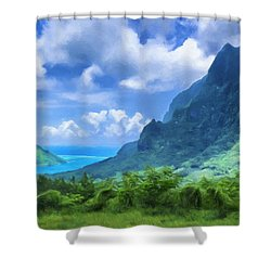 View Of Cook's Bay Mo'orea Shower Curtain
