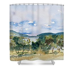 View Of D'entrecasteaux Channel From Birchs Bay, Tasmania Shower Curtain