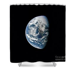 View Of Earth Taken From The Apollo 13 Shower Curtain by Stocktrek Images