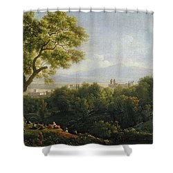 View Of Frascati Shower Curtain by Jean Bidauld