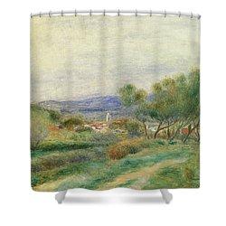 View Of La Seyne Shower Curtain by Pierre Auguste Renoir