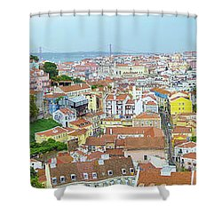 View Of Lisbon Shower Curtain by Patricia Schaefer