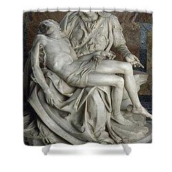 View Of Michelangelos Famous Sculpture Shower Curtain by James L. Stanfield