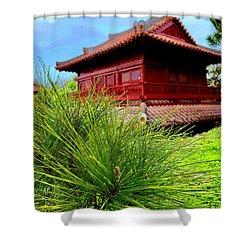 View Of Murasaki Mura, Okinawa. Shower Curtain