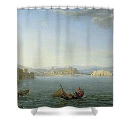 View Of Naples Shower Curtain by Adrien Manglard