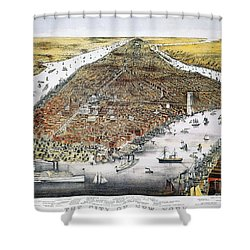 View Of New York, 1876 Shower Curtain by Granger