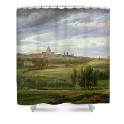 View Of Paris From Butte Aux Cailles Shower Curtain by Jean Baptiste Gabriel Langlace
