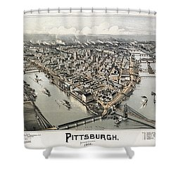 View Of Pittsburgh, 1902 Shower Curtain by Granger