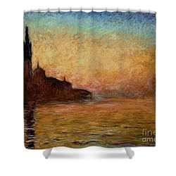 View Of San Giorgio Maggiore Shower Curtain by Claude Monet
