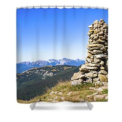 View Of The Apuan Alps Shower Curtain