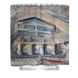 View Of The Bastille Shower Curtain by Granger