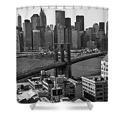 View Of The Brooklyn Bridge Shower Curtain