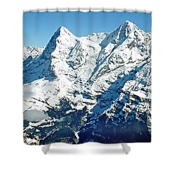 View Of The Eiger From The Piz Gloria Shower Curtain