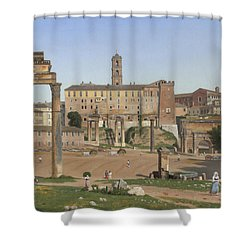 View Of The Forum In Rome Shower Curtain