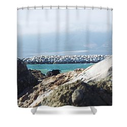 View Of The Inlet Shower Curtain
