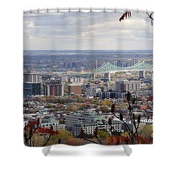View Of The Jacques Cartier Bridge Shower Curtain