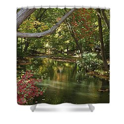 View Of The Mill River Shower Curtain
