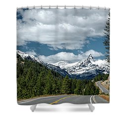 View Of The Pilot Peak From Highway 212 Shower Curtain