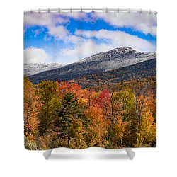 View Of The Presidential Mountains Shower Curtain