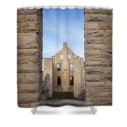 View Of The Ruins Shower Curtain