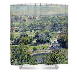 View Of The Tuileries Gardens Shower Curtain