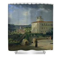View Of The Villa Medici In Rome Shower Curtain by Nicolas Antoine Taunay