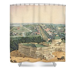 View Of Washington Dc Shower Curtain by Edward Sachse