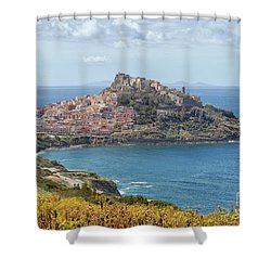 View On Castelsardo Shower Curtain