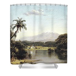 View On The Magdalena River Shower Curtain