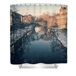 View Onto The River  Shower Curtain