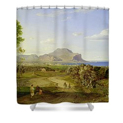View Over Palermo Shower Curtain by Carl Rottmann