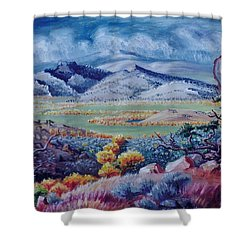 Shower Curtain featuring the painting View South From Cedar Breaks by Dawn Senior-Trask