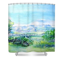 View Through The Gap,wicklow  Shower Curtain