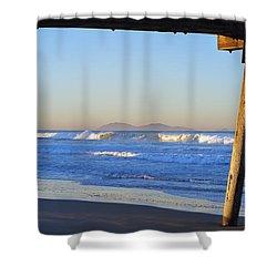 View Through The Pier Shower Curtain