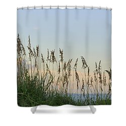 View Through The Sea Oats Shower Curtain