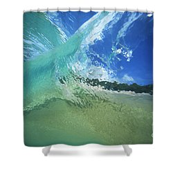 View Through Wave Shower Curtain by Vince Cavataio - Printscapes