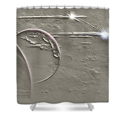 View To A Gray Universe Shower Curtain