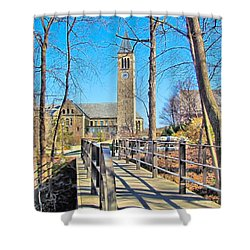 View To Mcgraw Tower Shower Curtain