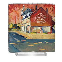 View To Radium Maastricht Shower Curtain