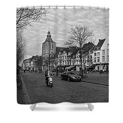 View To The Bosch Street In Maastricht Shower Curtain by Nop Briex