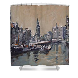 View To The Mint Tower Amsterdam Shower Curtain by Nop Briex