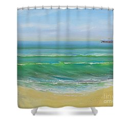 View To The Pier Shower Curtain