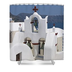 View To The Sea Shower Curtain by Sandra Bronstein