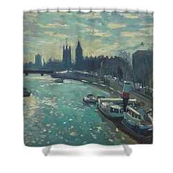 View To Westminster London Shower Curtain