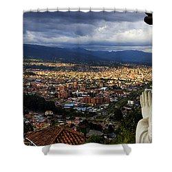 Vigil Over Cuenca From Turi Ecuador Shower Curtain
